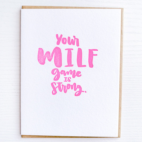 MILF GAME STRONG Card