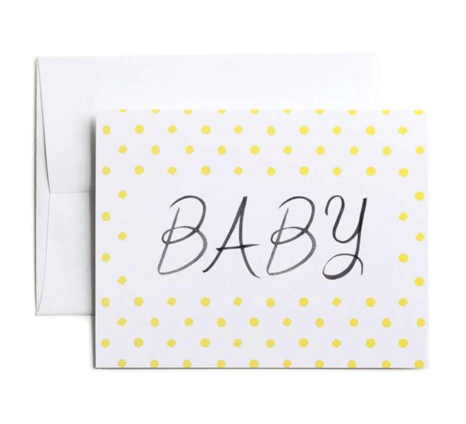 LEMON BABY DOTS Card