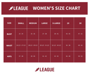 League- TRI-FLEX Collection - Women's Retro V- neck