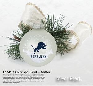 RFSJ- Glass Christmas collectible ornament