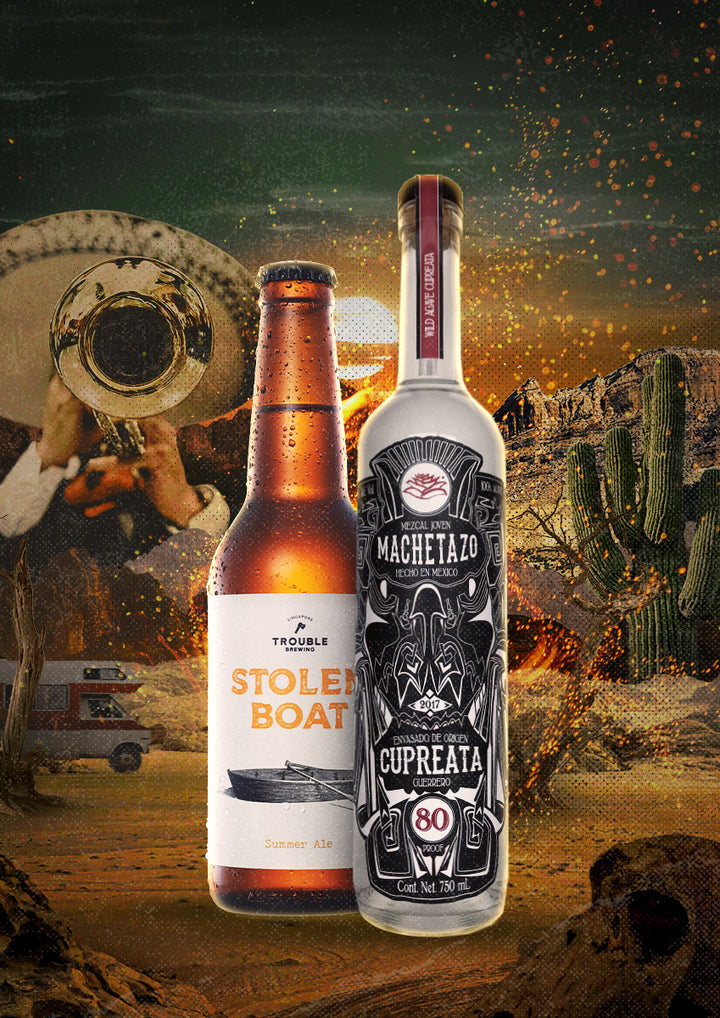 The Firecracker bundle: Mezcal Machetazo and Trouble Brewing - Trouble Brewing Store