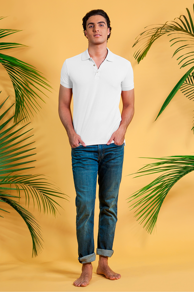 POLO CAMISERO CLUB BLANCO