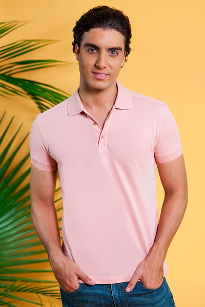 POLO CAMISERO CLUB ROSA