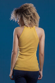 TOP CUELLO HALTER AMARILLO