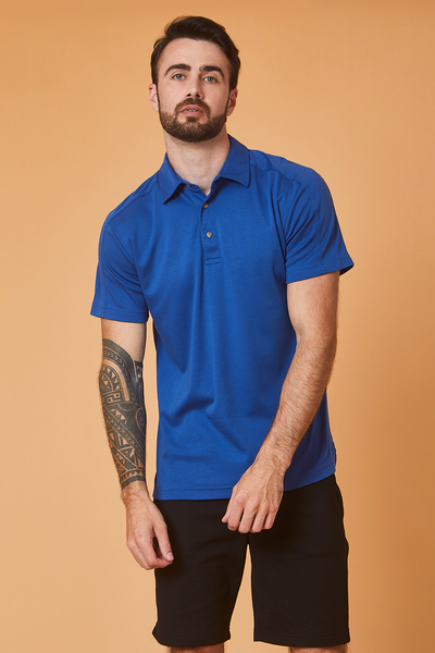 POLO CAMISERO AZUL