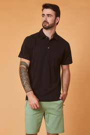 POLO CAMISERO NEGRO