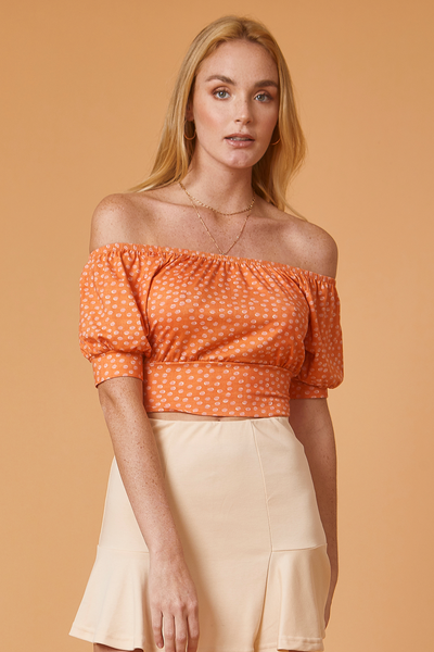 TOP OFF SHOULDER ESTAMPADO