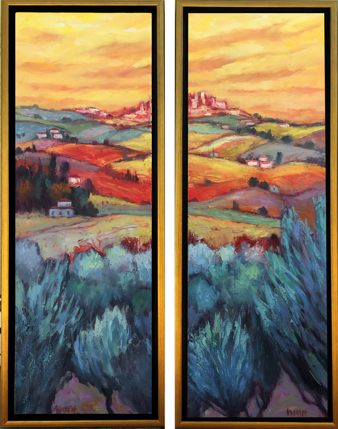 Distant San Gimigniano (diptych)