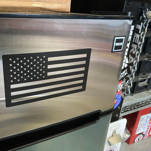 American Flag Magnet on Refrigerator