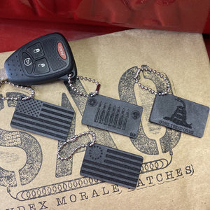 Willys, Jeep Key, Mini Morale Tags, Gadsden Flag, American Flag, Betsy Ross Flag, 556 Jeep Grill, Say Again Over Keychain