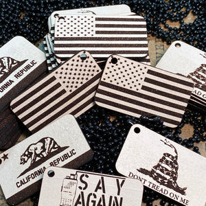 California Flag Mini Morale Tag (Keychain)