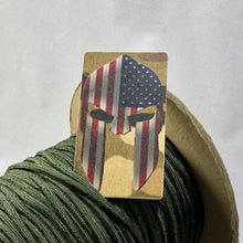 Load image into Gallery viewer, spartan helmet american flag patch