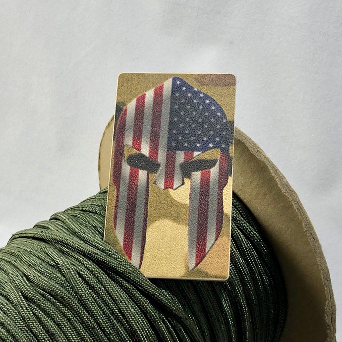 spartan helmet american flag patch