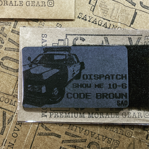 police morale patch, code brown