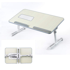 Foldable Adjustable Laptop Table Stand Holder Tray Notebook Table Home Bed Desk