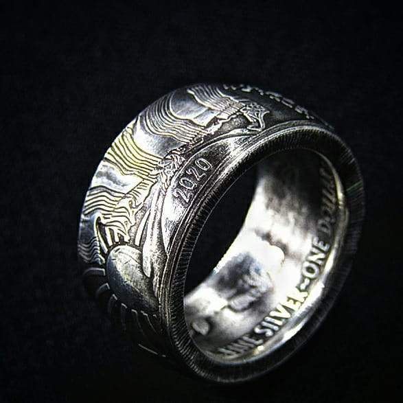 2020 American Silver Eagle Dollar Coin Ring in all sizes - COINSPESO