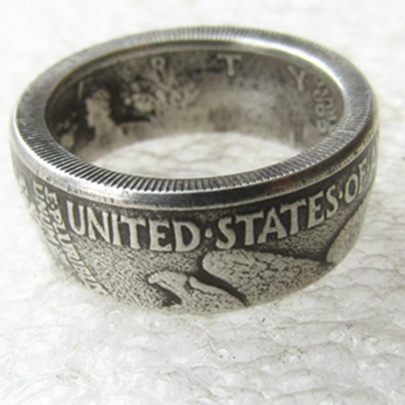 90% Silver US Walking Half Dollar Ring 'eagle' Handmade In Sizes 7-12 - COINSPESO