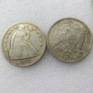 1871 SEATED LIBERTY SILVER DOLLARS - COINSPESO