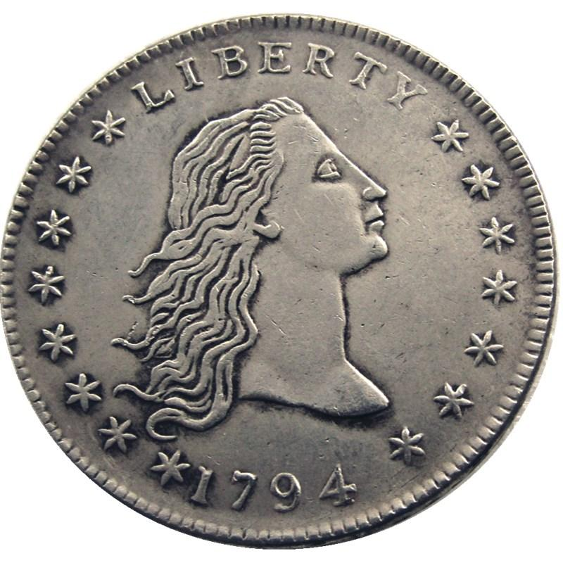1794 Flowing Hair Brass with US Dollar - COINSPESO
