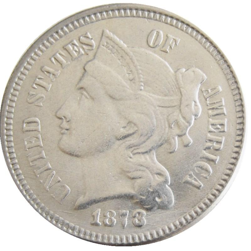 1873 THREE CENT NICKEL - COINSPESO