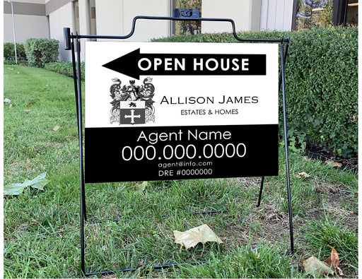 Allison James Homes & Estates 18x24 Open House with Wire Frame (ALL-1824W-2)