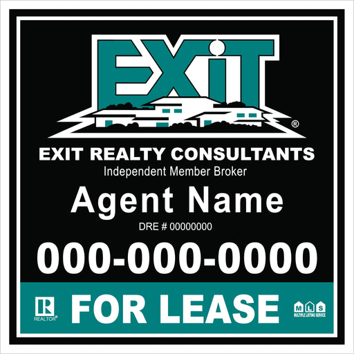 Exit 4x4 For Lease Outdoor Sign Board - MDO (EXT-44-2)