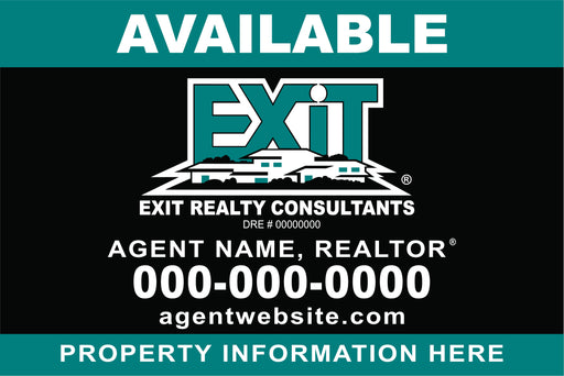 "Exit 4x6 ""Available"" Outdoor Sign Board - MDO (EXT-46-2)"