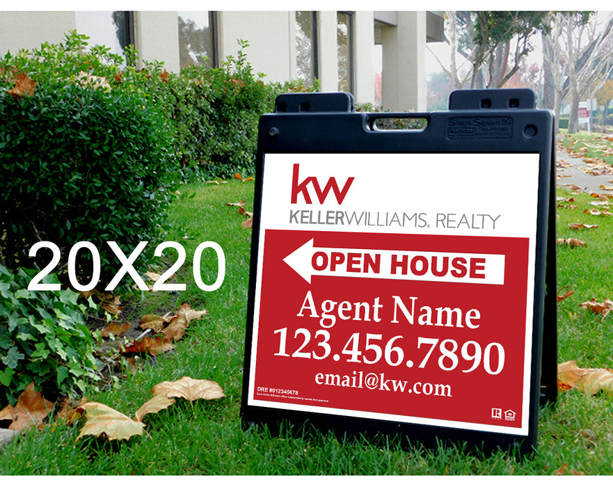 Keller Williams 20x20 Open House Plasticade Frame + Panels (KEL-2020P-1)