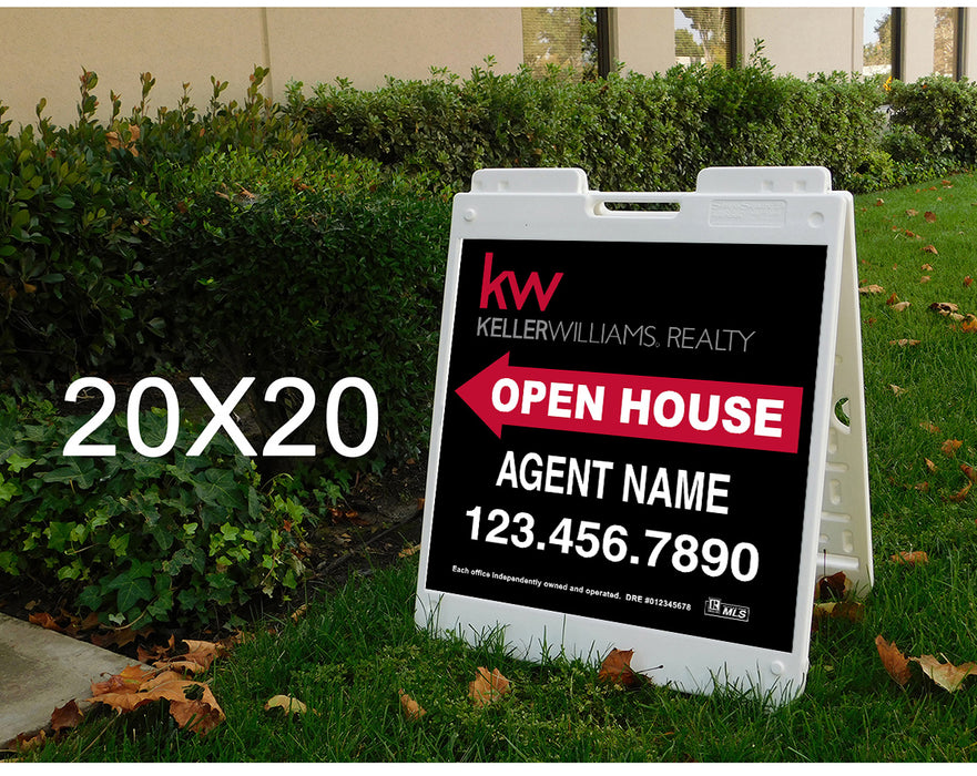 Keller Williams 20x20 Open House Plasticade Frame + Panels (KEL-2020P-2)