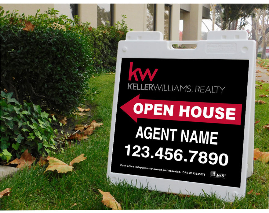 Keller Williams 24x24 Open House Plasticade Frame + Panels (KEL-2424P-2)