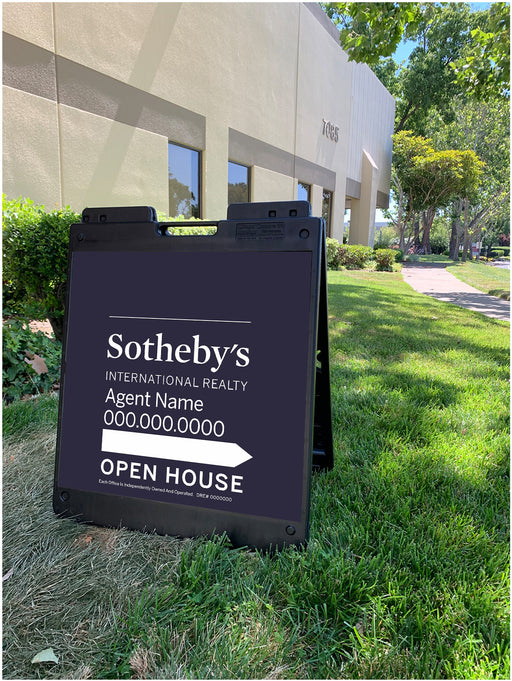 Sotheby's International Realty 24x24 Open House with Plasticade Frame (SIR-2424P-1))