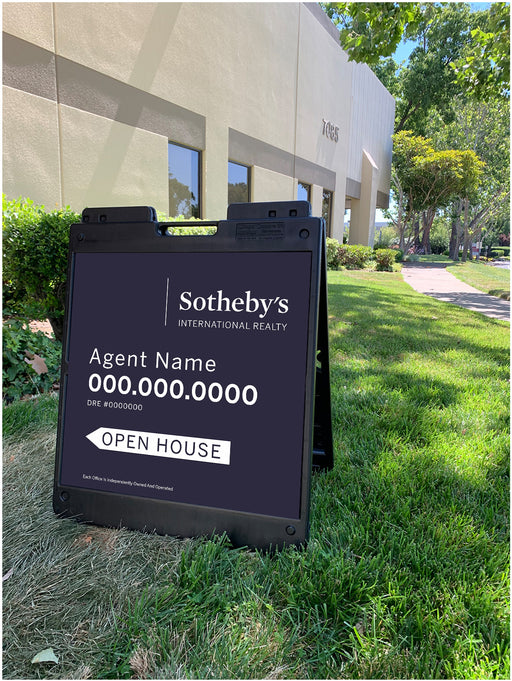 Sotheby's International Realty 24x24 Open House with Plasticade Frame (SIR-2424P-2))