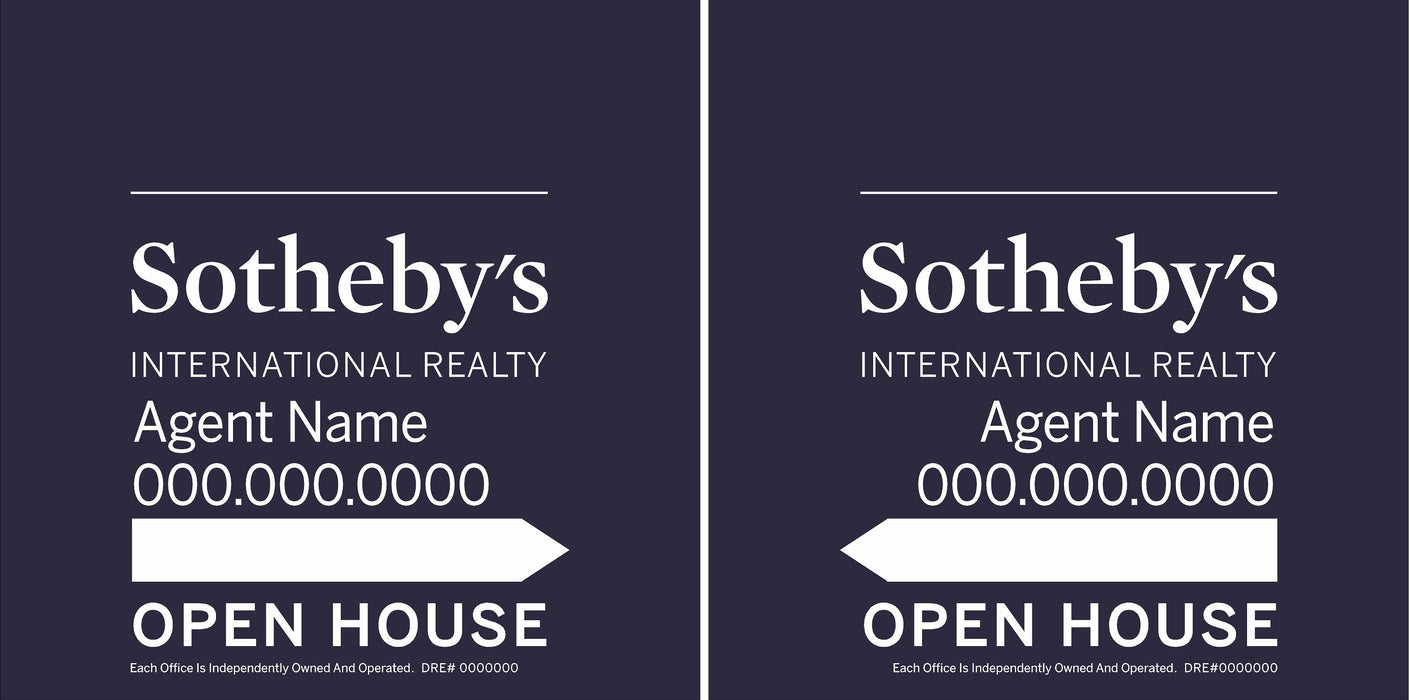 Sotheby's International Realty 24x24 Open House Panel Set (SIR-2424SET-1)