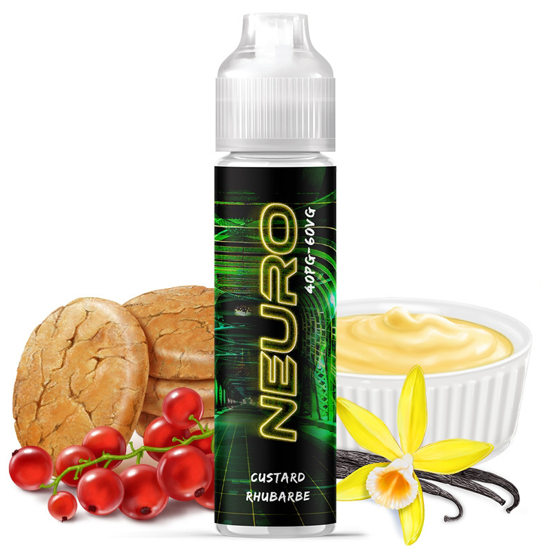Neuro | Custard - Vanille - Biscuit - Rhubarbe - Groseilles | Cyber Steam | 50 ml
