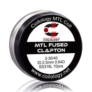 Pack de 10 MTL Fused Clapton SS316L | Coilology