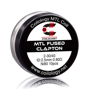 Pack de 10 MTL Fused Clapton NI80 | Coilology