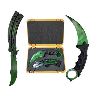 Butterfly Knife & Karambit Green