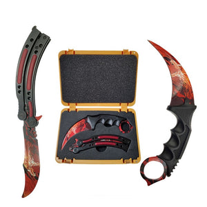 Butterfly Knife & Karambit Fire Dragon