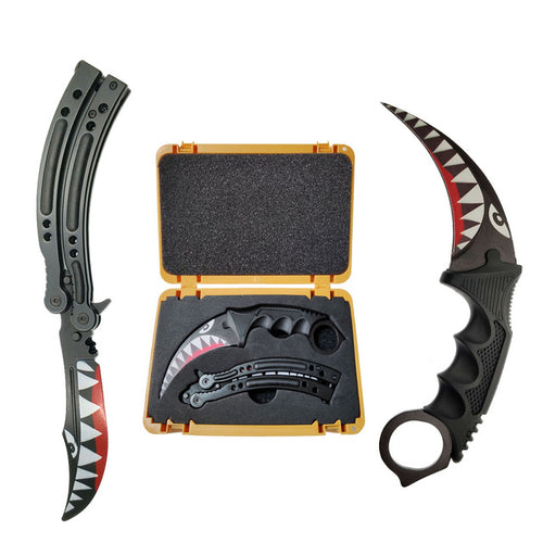 Butterfly Knife & Karambit Black Shark