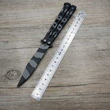 Butterfly Knife Black Camouflage