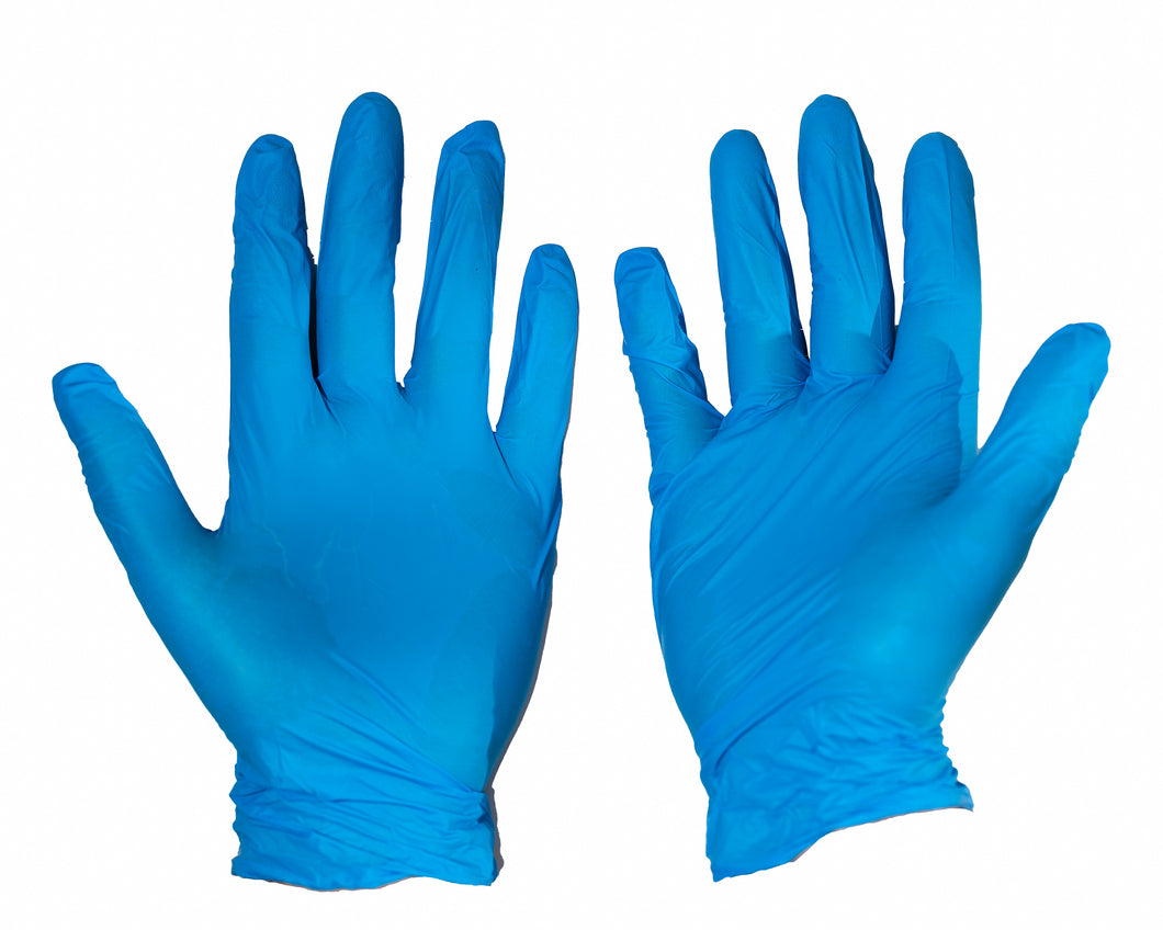 Disposable Nitrile Gloves - 100 pack - Blue