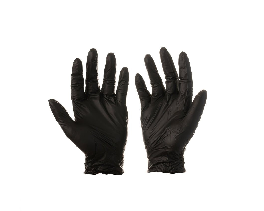Disposable Nitrile Gloves - 100 pack - Black