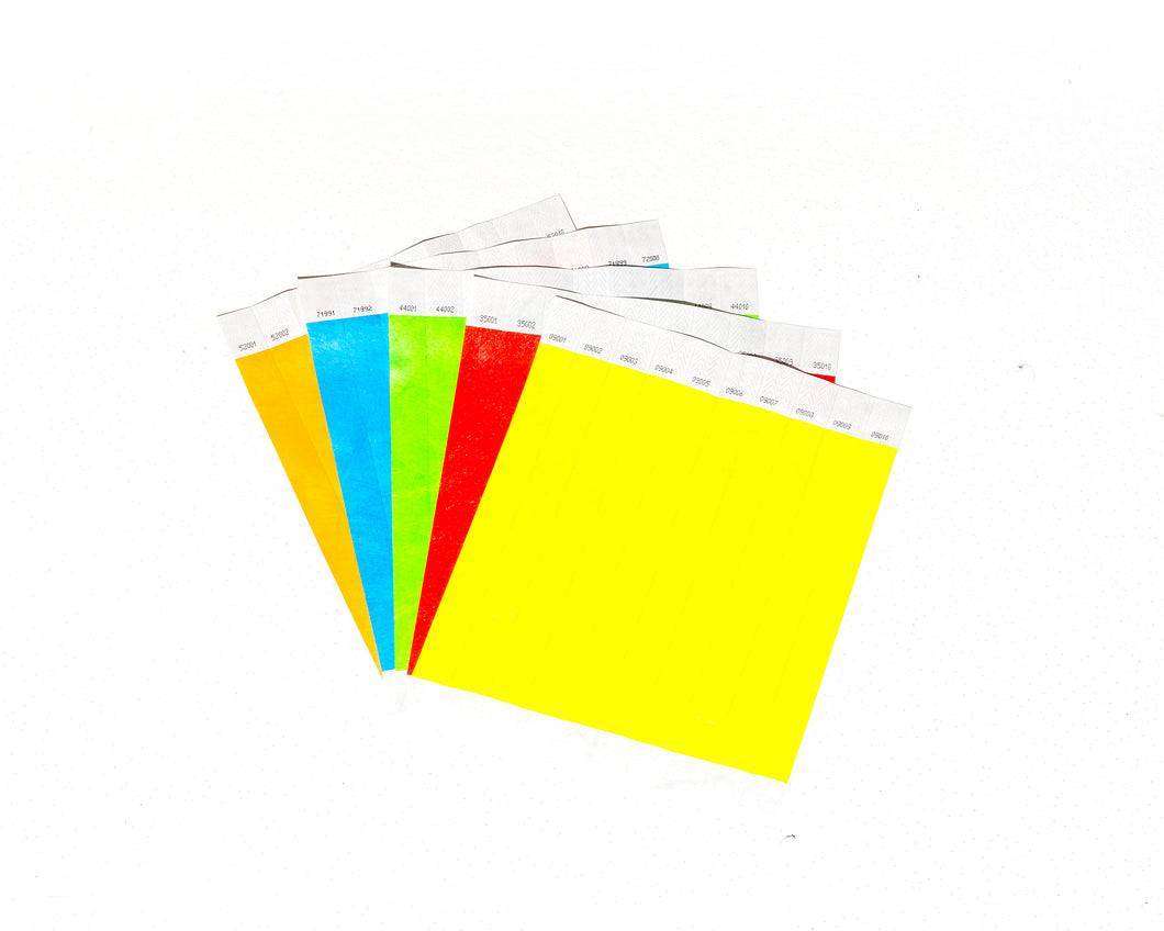 Paper Wristbands - 10 pack