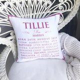 Christening /Baptism/Naming Day Cushion