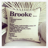 Teachers Dictionary Cushion