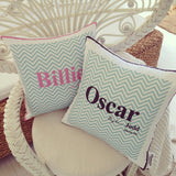 Chevron Name Cushion
