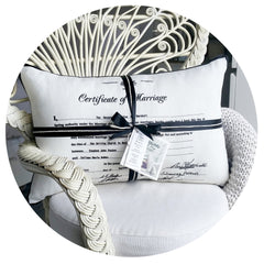 Marriage Certificate Cushion