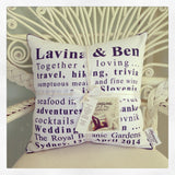 Wedding Words Cushion