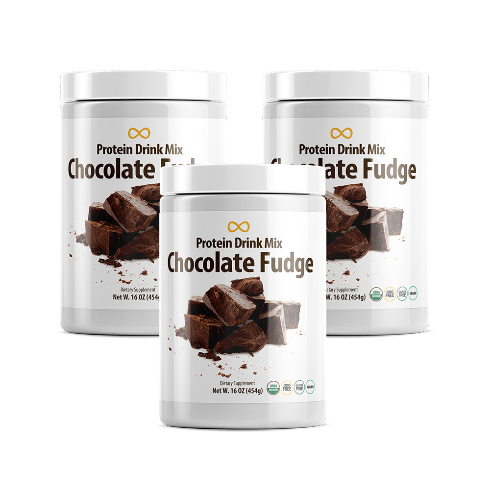 Vegan Protein Drink Mix, Chocolate Fudge, 16 oz, 3 Pack