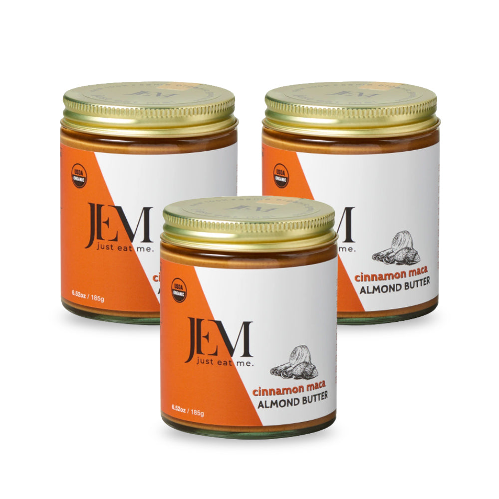 JEM Cinnamon Maca Almond Butter, 6 oz, 3 Pack